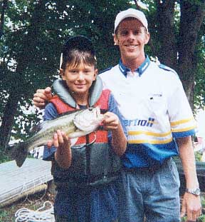 Chris Beilert with Christian Morehouse - August 18, 2000 - Bryan's Fishing Camp